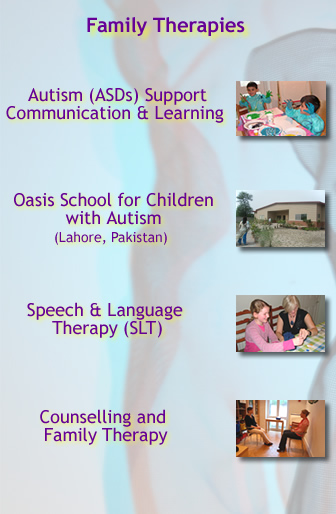 autism, family therapies, speech and language, counselling